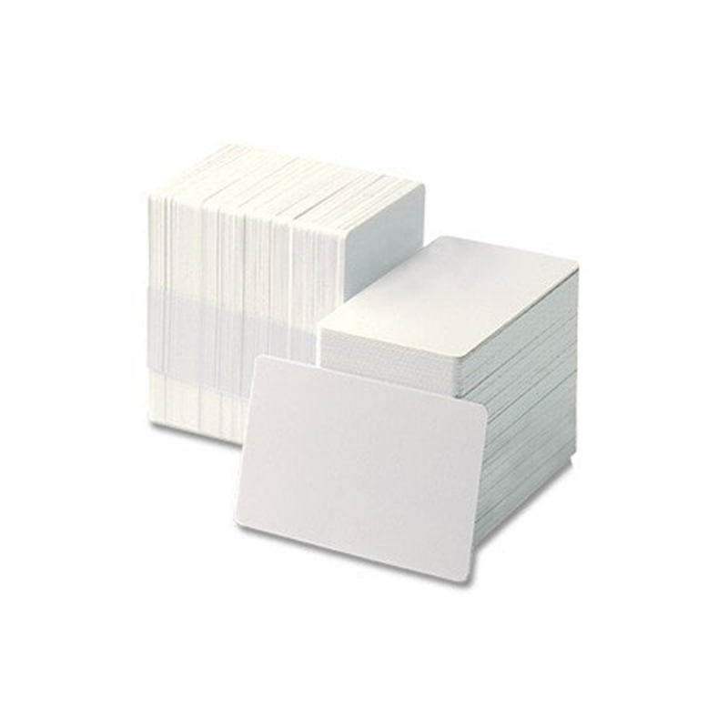 Blanco plastic pasjes