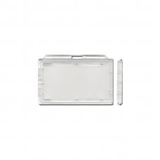 Her-afsluitbare badgehouder van hard transparant kunstof (100 stuks)